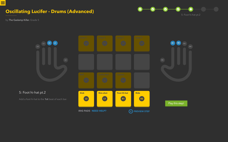 Melodics drumming