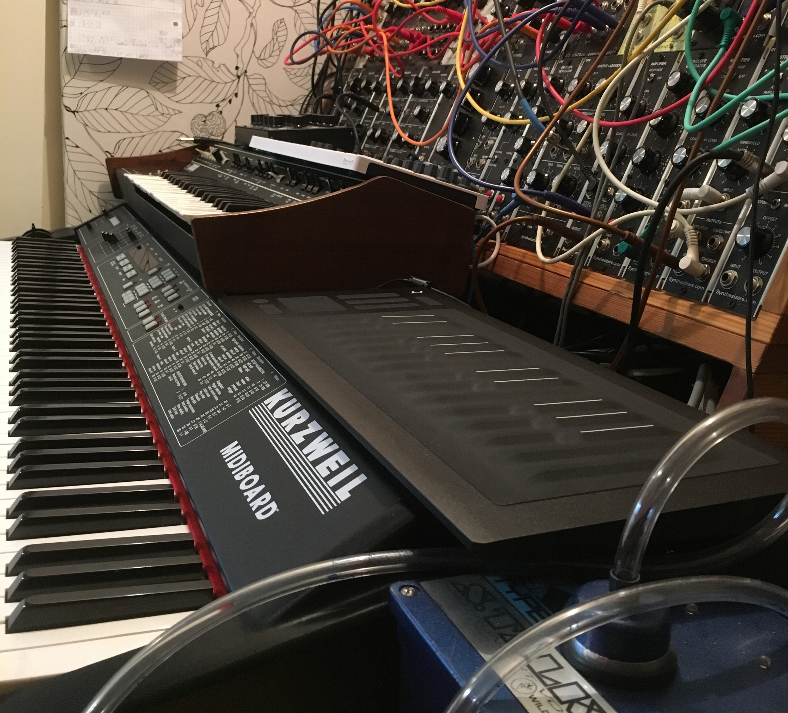 RJD2 studio with RISE 25