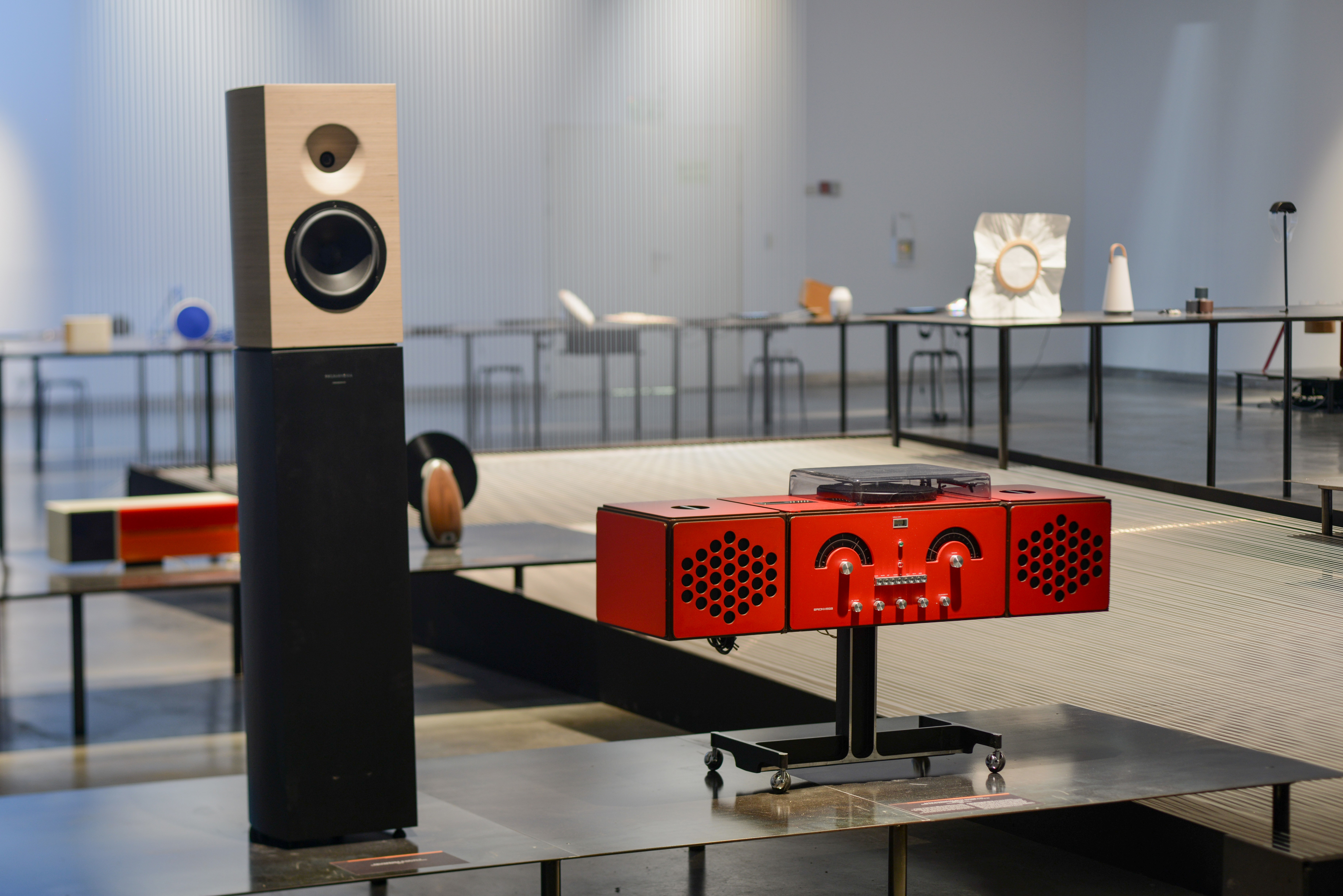 Red Speakers Design Museum Holon